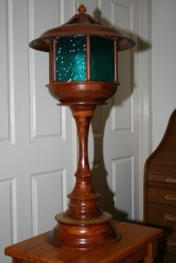 Lighthouse Lamp Jarrah Segments