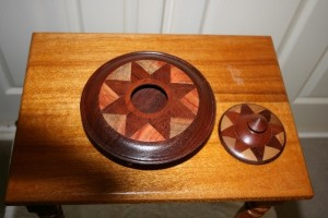 Lidded box. Top view.