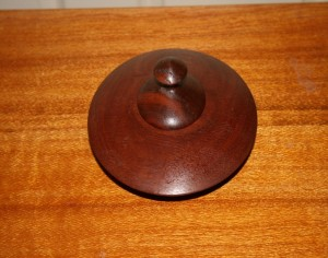 Simple lidded box. Jarrah.